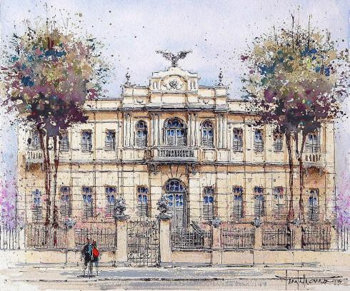 Antigo Colégio Atheneuzinho – Atual Museu da Gente Sergipana – Tela do artista plástico Tintiliano.